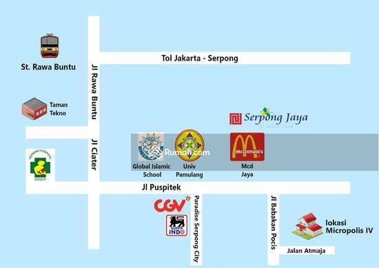 Jl. Atmaja, Bakti Jaya, Setu, Serpong - Tangerang   86647255