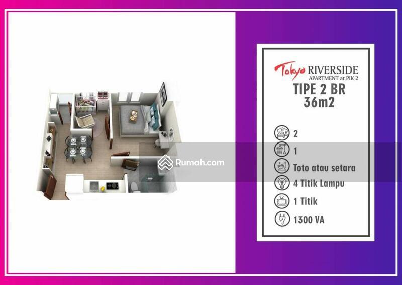 Dijual 2BR Apt Tokyo Riverside Tower B Lt Tengah vco #106450839